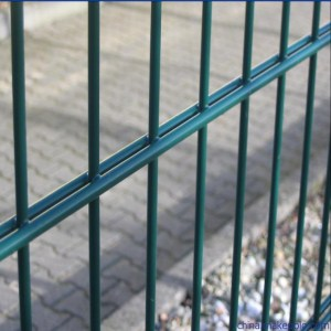High-Security-Powder-Coating-8-6-8-2D-Fence-Double-Wire-Fence-Panel